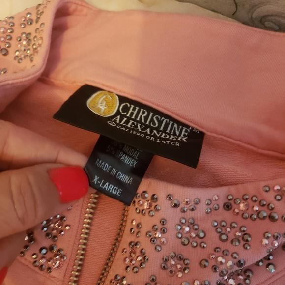 53a240a33f Christine Alexander Coral Peach Jacket XL Stretch